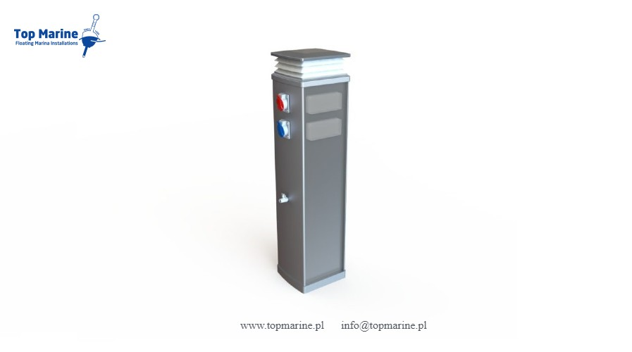 Postument zasilający, Top Marine, info@topmarine.pl, www.topmarine.pl